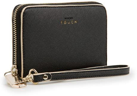 Mango Touch Wallet mango touch saffiano effect wallet in black lyst