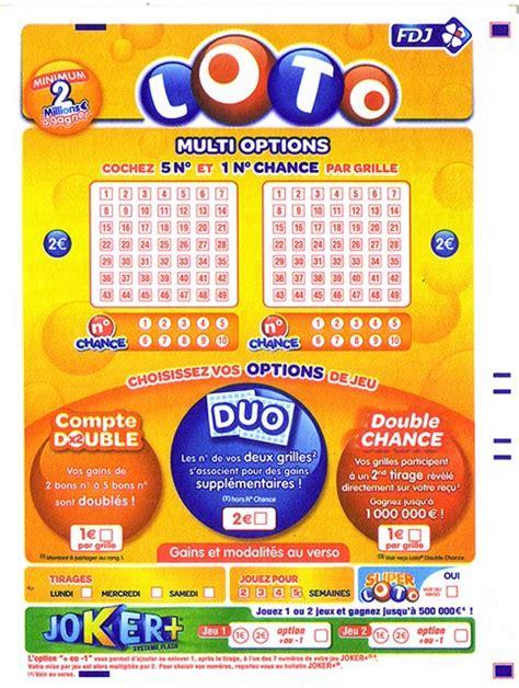 cout grille loto nouveaux bulletins du loto au 7 octobre 2012