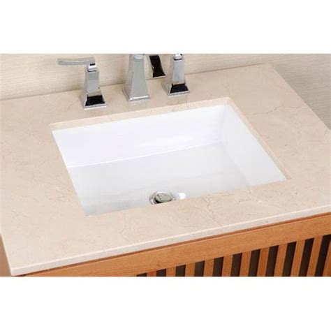 vitreous china undermount rectangle sink cantrio koncepts