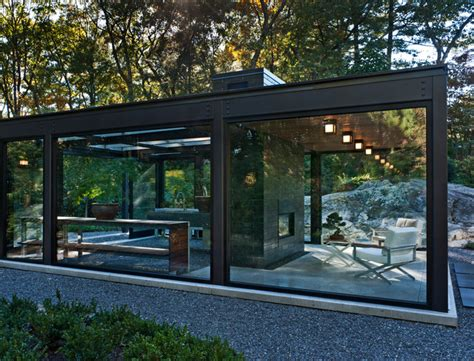 modern glass house glass house in the garden modern exterior boston