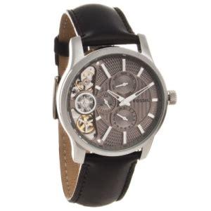 Fossil Machine Fs4773 Silver fossil watches s machine cuff leather black