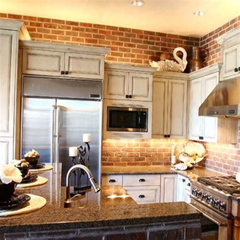 brick kitchen 74 stylish kitchens with brick walls and ceilings digsdigs