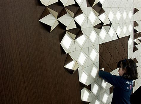 light form gorgeous wood wall panels flip up to reveal