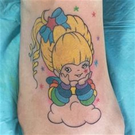 rainbow brite tattoo designs ink on day of the dead sugar skull and