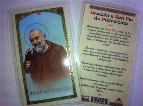 padre pio biography in spanish holy prayer cards for saint pio padre pio in spanish set