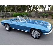 SOLD 1967 Chevrolet Corvette Convertible Marina Blue 300hp
