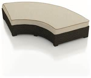 curved bench cushions hton radius curved backless bench chocolate wicker and