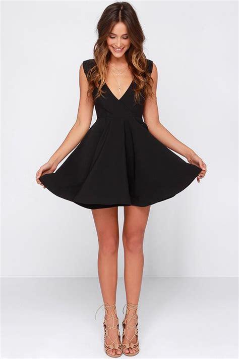 White Fiorito Miranda Surplice Dress best 25 black skater dresses ideas on dress