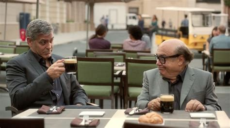 nespresso commercial actress danny devito george clooney is finally pitching nespresso in the u s