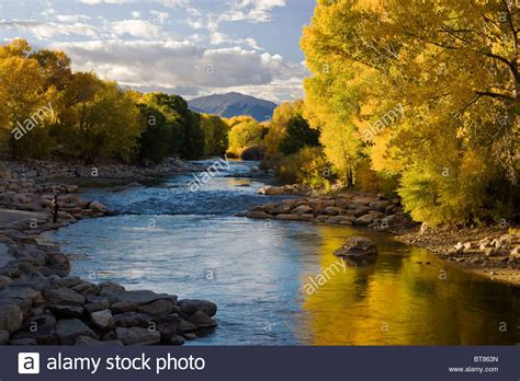 arkansas fall colors autumn view of fall colors along the arkansas river in the