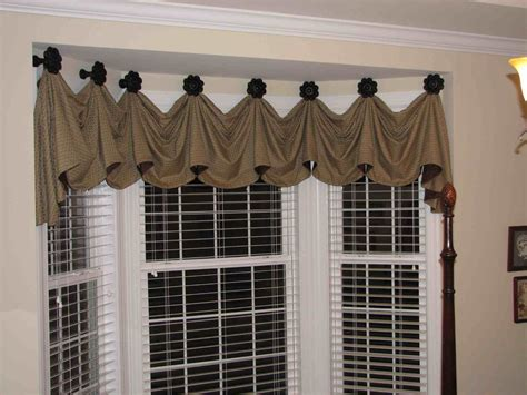 curtain ideas for bay windows bay window valance distinctive designs