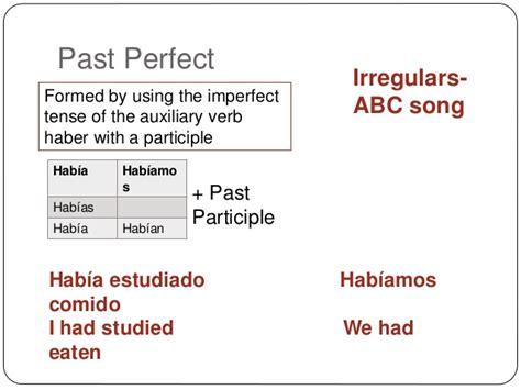 libro perfecting the past in mi libro gramatica 2