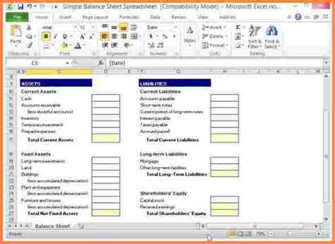 assets and liabilities template excel simple balance sheet template excel www pixshark