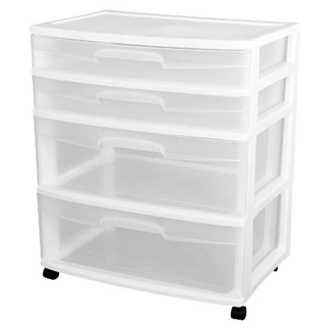 sterilite 174 ultra 4 drawer storage cart white target