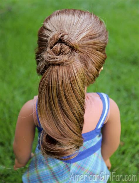 Doll Hairstyles by Doll Hairstyle Fancy Ponytail Americangirlfan
