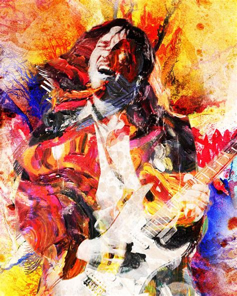 red hot chili peppers in color poster home decor gift by john frusciante art print red hot chili peppers canvas