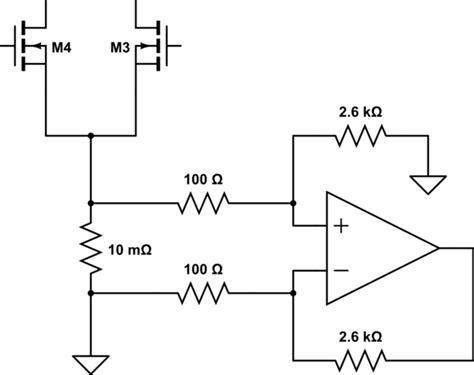 pcb trace current sense resistor measure current through h bridge using shunt electrical engineering stack exchange