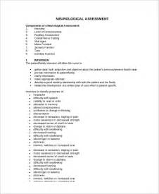 Neuro Template Pdf by Sle Nursing Assessment Form 6 Documents In Pdf
