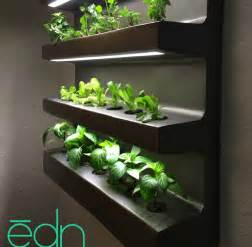Edn By Ryan Woltz Is An Indoor Wall Garden That Can Grow Wall Garden Indoor