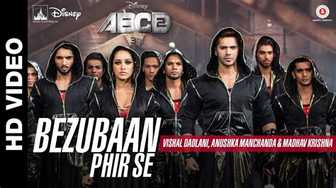 tattoo lyrics abcd 2 waseem abcd2 movie songs lyrics bezubaan phir se sun