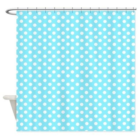 blue polka dot curtains light blue polka dot shower curtain by inspirationzstore