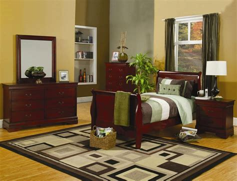 youth bedroom set louis philippe cherry youth sleigh bedroom set 200431t