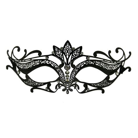 black metal venetian crown top mask