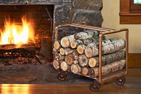 diy log holders  store ideas  outdoors shelterness
