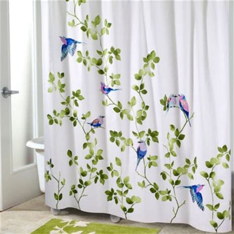 curtains birds theme buy bird shower curtain from bed bath beyond