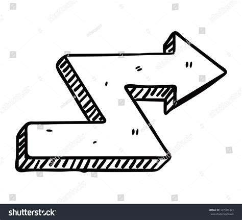 arrow doodle free vector doodle arrow stock vector 107383493
