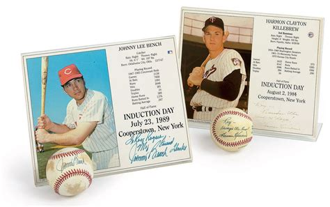johnny bench memorabilia johnny bench and harmon killebrew memorabilia christie s