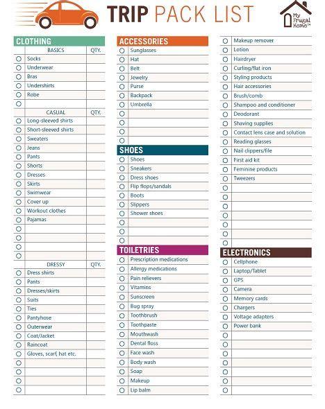 13 packing list template sponsorship letter