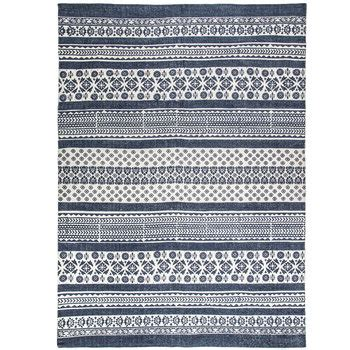 blue patterned rug blue white patterned cotton rug hobby lobby 1471440