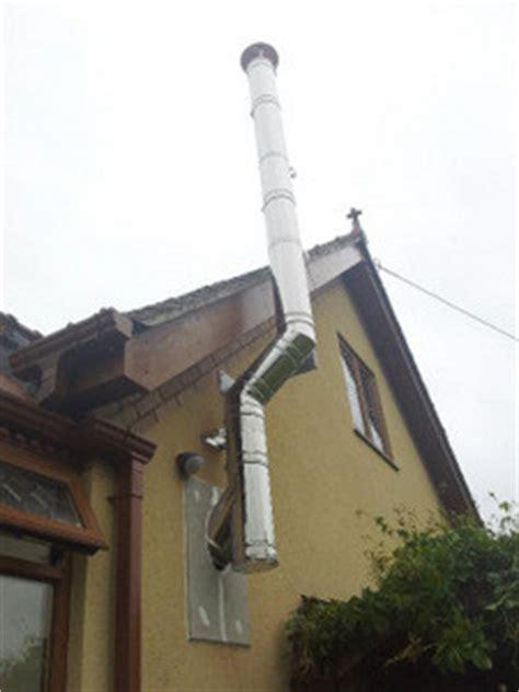 Chimney Flue Support Bracket - installing a wall flue chimney for a wood burning