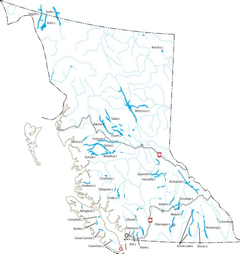canadian map with lakes williston lake the wiki
