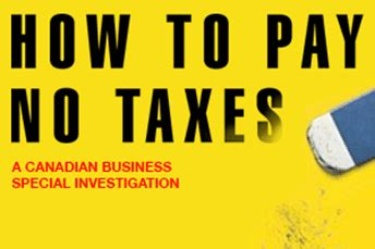 Do Companies Pay For Your Mba by Why Are Some Canadian Companies Paying Almost No Tax