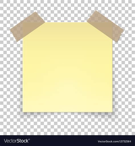 notes transparent background realistic sticky on transparent background vector image