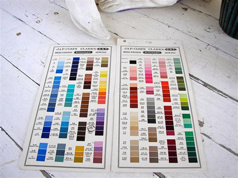 coats and clark thread color chart vintage jp coats and clark s 1953 thread color chart