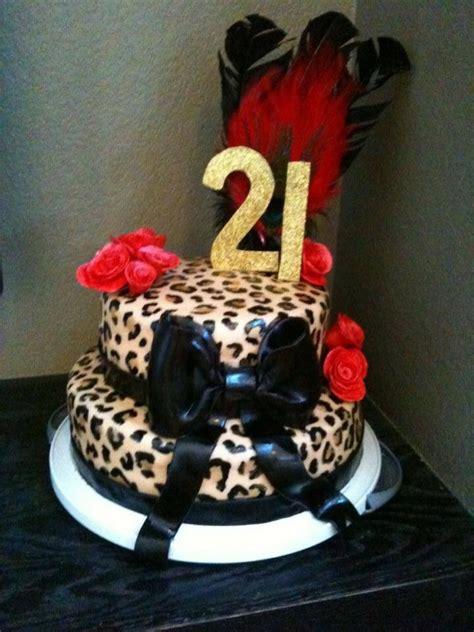 leopard birthday cake leopard print 21st birthday cake cakecentral com