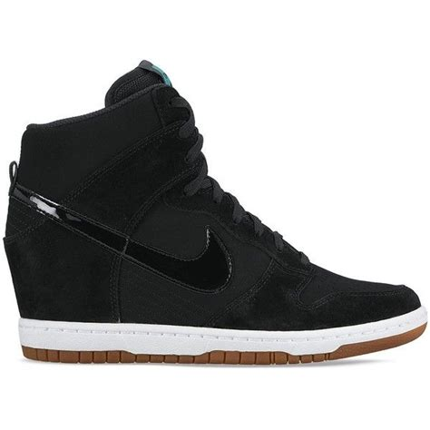 Nike Wedges Sneakers nike s dunk sky hi essential wedge sneakers 120 liked on polyvore featuring shoes