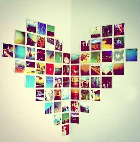 corazon con fotos en pared buscar con google im 225 genes