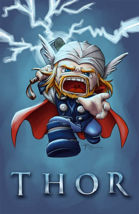thor chibi by raven b a cartoon chibi pinterest iron