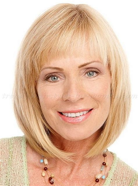 over 50 hair styles medium length with bangs shoulder length hairstyles for women over 50