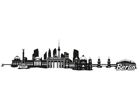 Aufkleber Folie Berlin berlin city skyline aufkleber sticker autoaufkleber