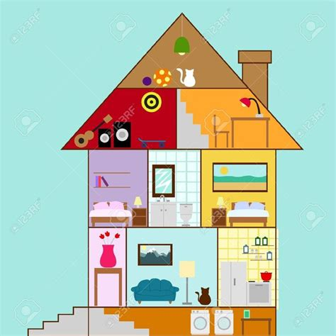 house cross section house cross section clipart basement house interior in a