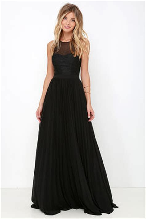Vacia Simply Black S M Dress black gown maxi dress embroidered dress black dress