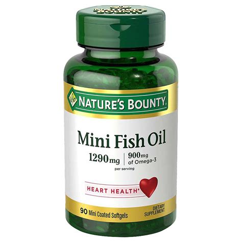 Omeheart Mini Capsules Omega 3 Fish 30 Capsules Om3heart nature s bounty fish dietary supplement mini softgels walgreens