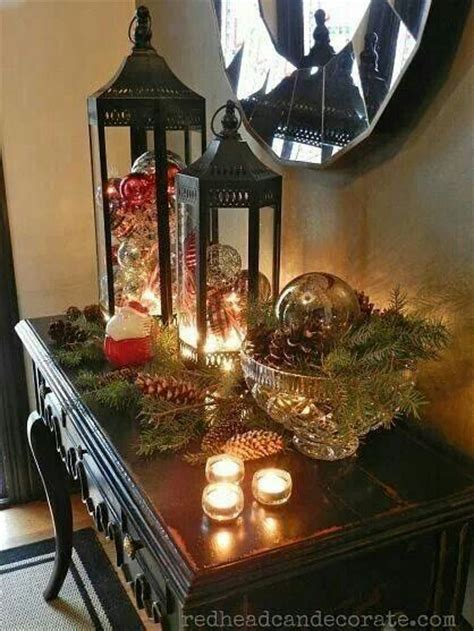 christmas entry table home entry foyer pinterest