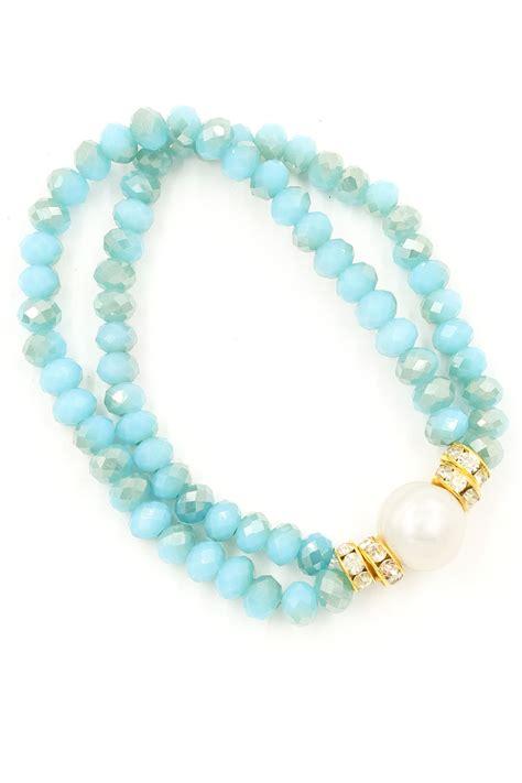 stretch bead bracelets freshwater pearl faceted bead stretch bracelet bracelets