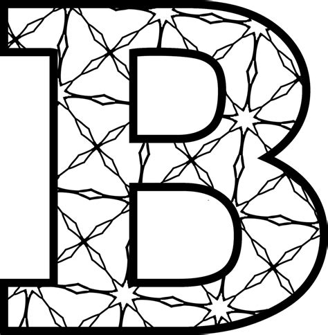 Free Printable Alphabet Letters Coloring Pages Color In Letter Template